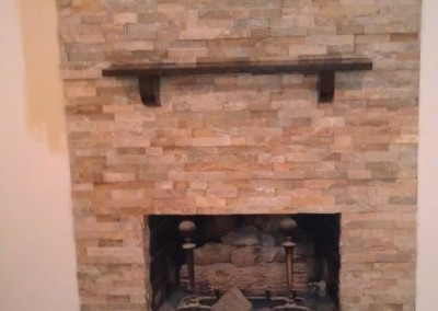 New quartz fireplace at Blue Coral Stoneworks in  Greenville, SC